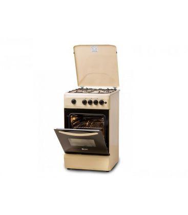 Aragaz LDK 5060 A CREM LPG, 4 arzatoare, Aprindere electrica, Capac metalic, 50x60 cm, Crem