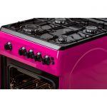 Aragaz LDK 5060 GRAI Purple NG, Aprindere electrica, Grill, Rotisor, Iluminare, 3 ani garantie, Roz