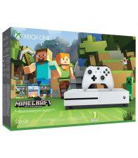 Consola XBOX ONE Slim 500GB + joc Minecraft pentru Xbox One